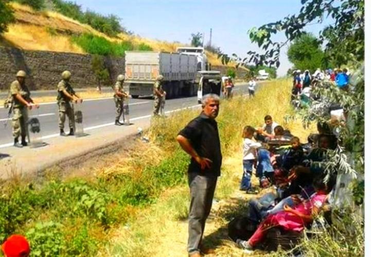 مهاجرون عراقيون على الحدود التركية مع بلغاريا