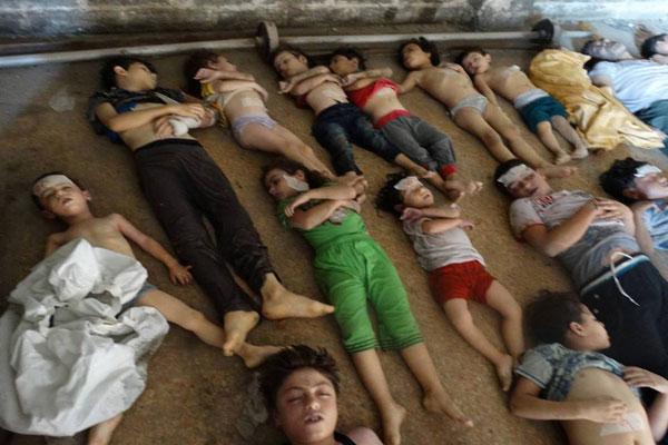 أطفال قضوا ضحية هجوم الغوطة