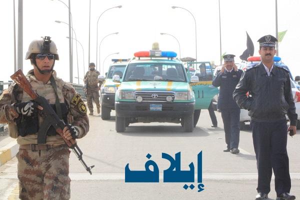 نقطة تفتيش على طريق سريع في بغداد
