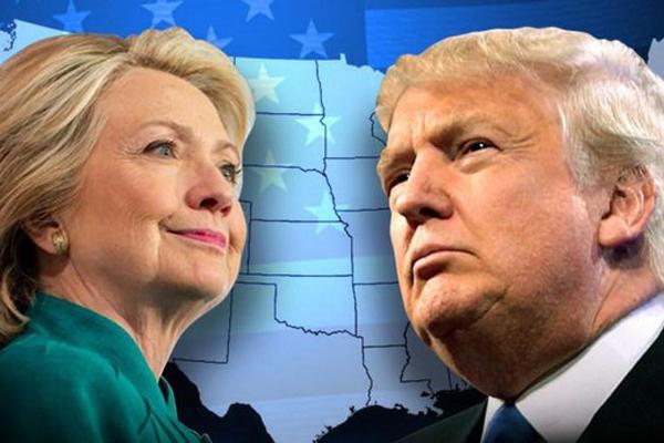 وتقدمت كلينتون حيث حصلت على 34% مقابل 28% لمنافسها الجمهوري