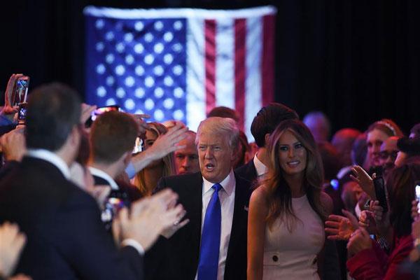 ترامب وزوجته ميلاني في نيويورك