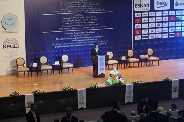 نجيرفان بارزاني يلقي كلمته في المؤتمر الاقتصادي المنعقد حاليا بأربيل