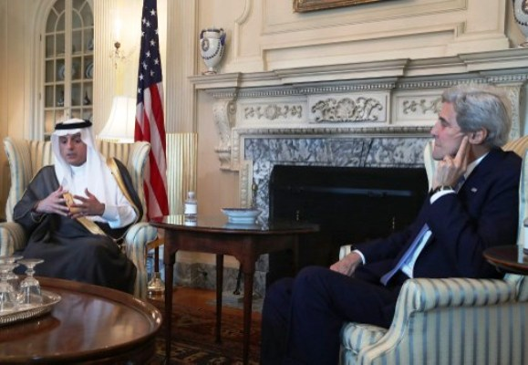 وزير الخارجية السعودي عادل الجبير مع نظيره الاميركي جون كيري