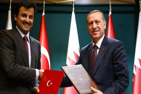 اردوغان وتميم في قمة سابقة