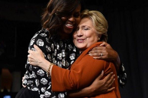 ميشيل أوباما تدعم مساعي كلينتون لتصبح اول امرأة تتولى رئاسة الولايات المتحدة