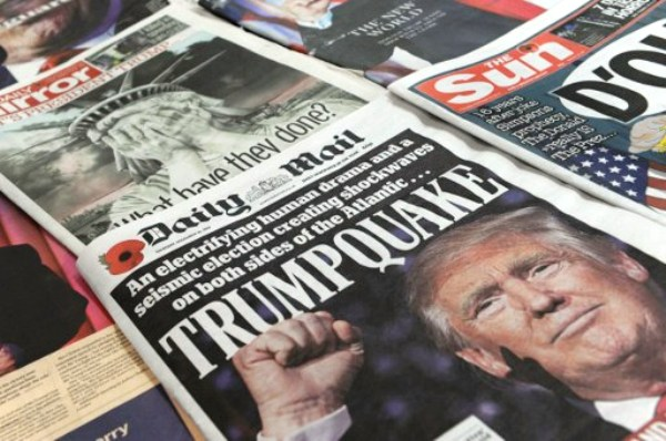 صور ترامب توشح كبرى الصحف البريطانية الصادرة الخميس