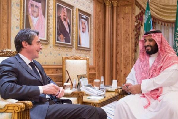 الأمير محمد بن سلمان ورئيس شركة تاليس
