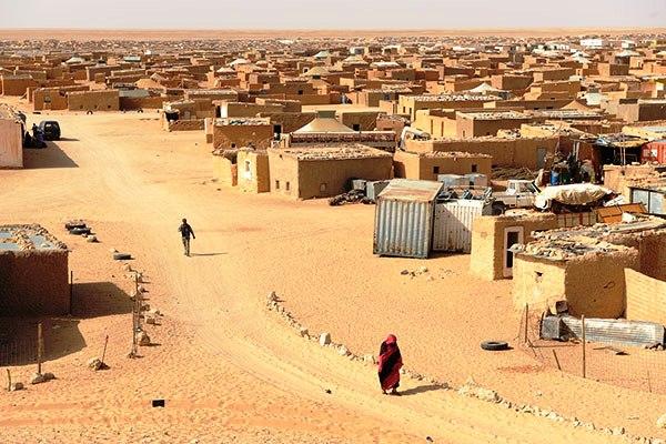 مخيم اللاجئين الصحراويين في تندوف