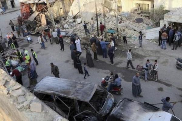 اثار التفجير الانتحاري الذي استهدف ايرانيين جنوب بغداد