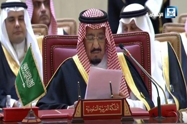 الملك سلمان خلال كلمته في افتتاح القمة الخليجية