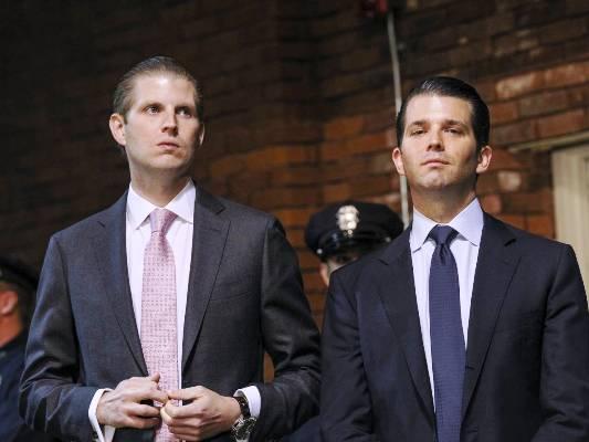 نجلا الرئيس الأميركي المنتخب: ايريك (يسار) وترامب جونيور