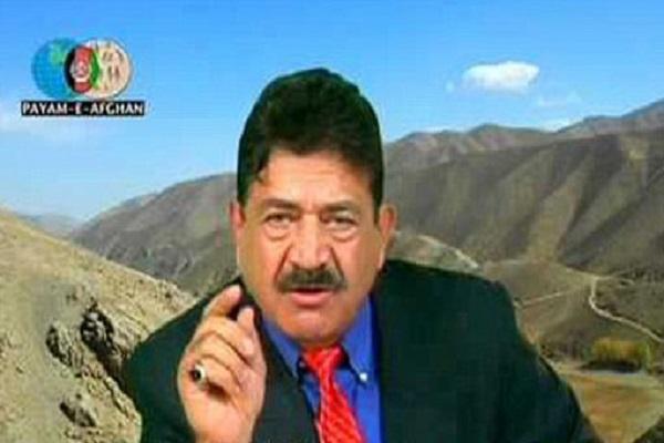 صديق خلال ظهوره في قناة (بيام أفغان)