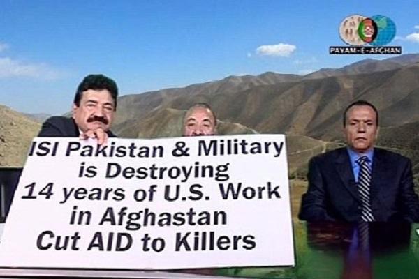 متين الاب في برنامجه منددا بالاستخبارات الباكستانية