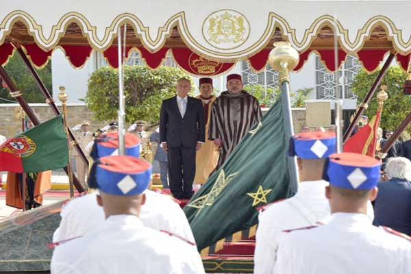 العاهل المغربي يجري مباحثات مع الرئيس البرتغالي