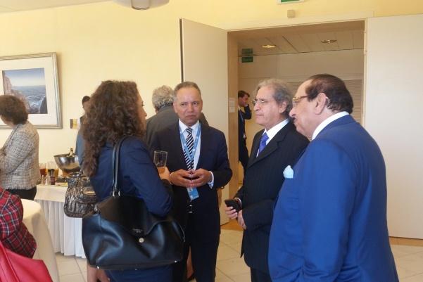 ممثلون عن البعثات الدائمة والمنظمات الدولية حضروا الحفل بقصر الأمم في جنيف