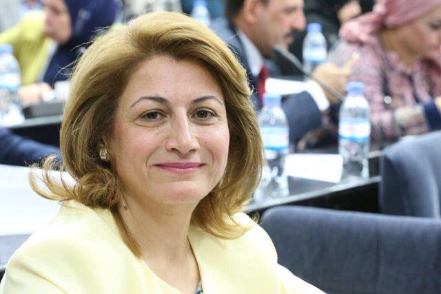 آلا طلباني رئيسة كتلة الاتحاد الوطني الكرستاني في البرلمان العراقي