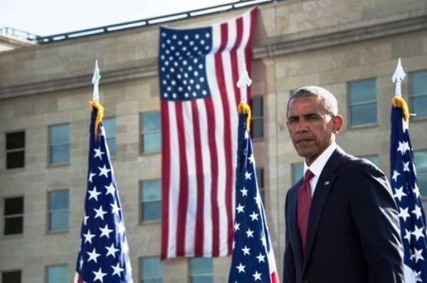 أوباما في مبنى البنتاغون يوم الأحد