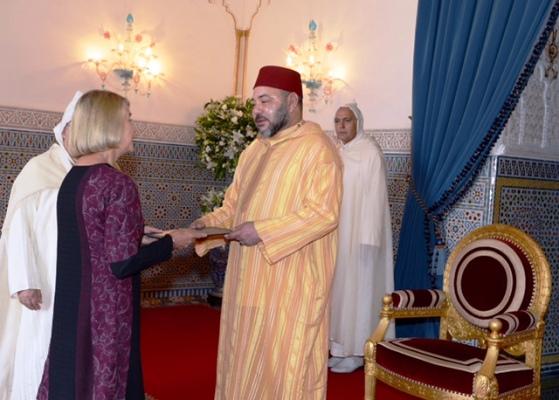 الملك محمد السادس يتلقى أوراق اعتماد سفيرة جديدة