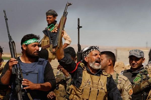 بعض عناصر ميليشيا الحشد الشعبي في العراق