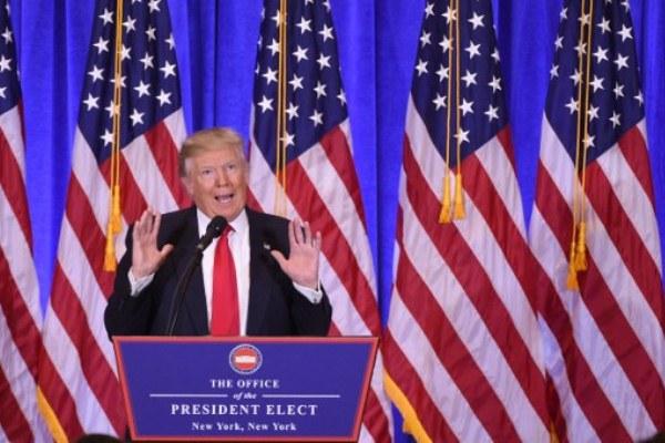 ترامب خلال المؤتمر الصحافي
