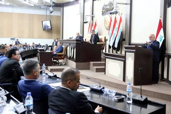 العبادي في مجلس النواب لدى التصويت على مرشحيه للوزارات الشاغرة
