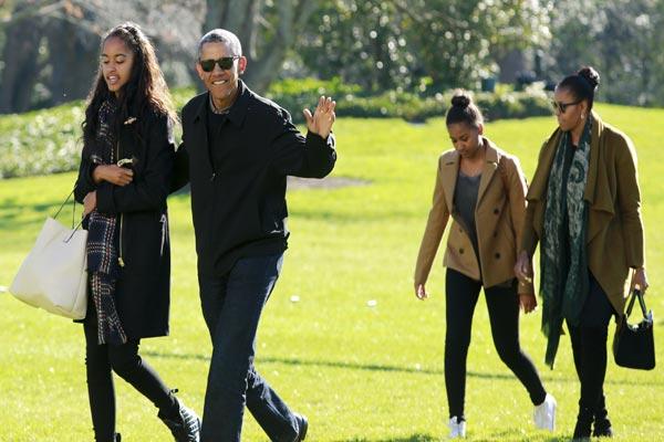 أوباما وعائلته في إجازة