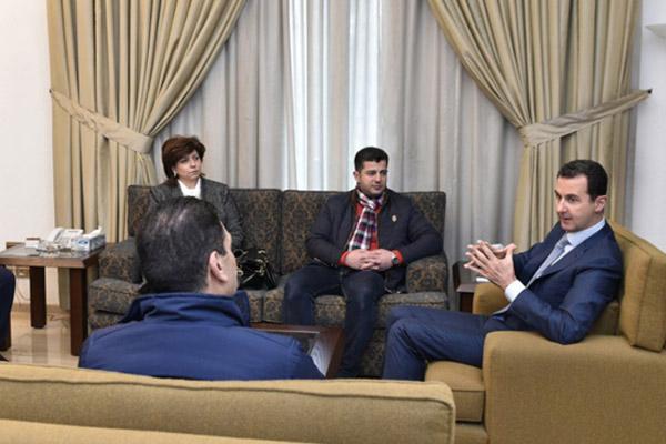الرئيس السوري بشار الأسد يستقبل عدداً من الصناعيين ممن تضرروا خلال الحرب