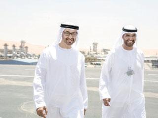 الشيخ محمد بن زايد مع سلطان الجابر