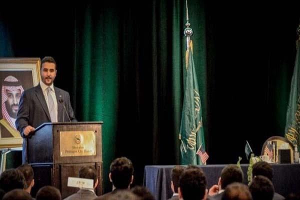 الأمير خالد بن سلمان في لقاء المبتعثين