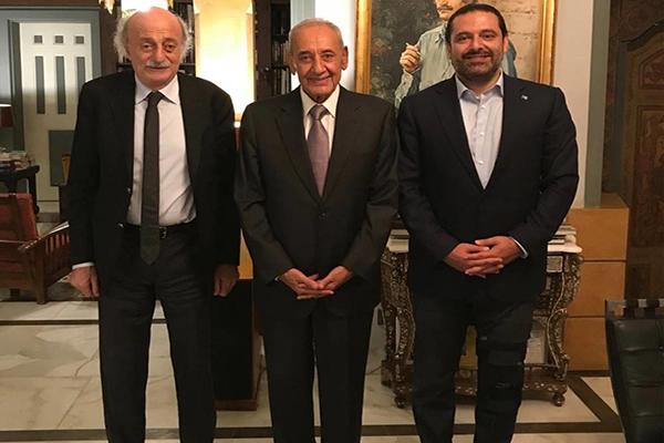 لقاء بين الحريري وبري وجنبلاط