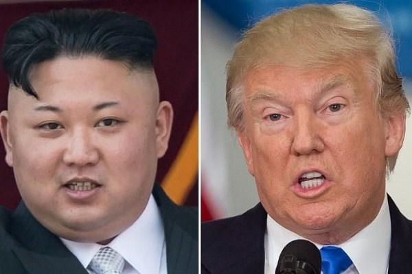 صورة مركبة للرئيس الأميركي والزعيم الكوري الشمالي