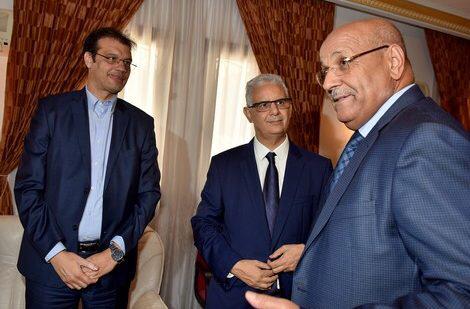 حمدي ولد الرشيد برفقة نزار بركة الأمين العام الجديد لحزب الاستقلال المغربي