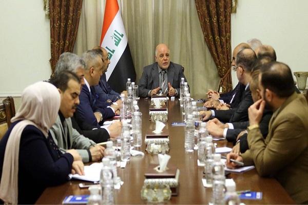 العبادي مجتمعا مع قادة تحالف القوى العراقية السنية