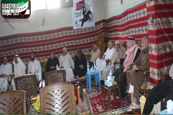 أحد اجتماعات عائلة الزعبي في محافظة درعا