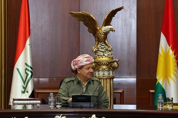 مسعود بارزاني على كرسي رئاسة الاقليم