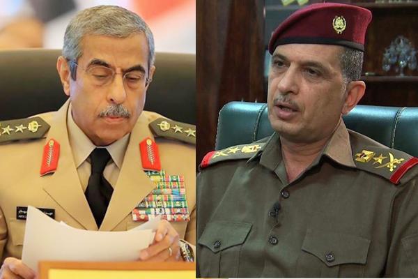 رئيسا الاركان العراقي الغانمي والسعودي بن صالح