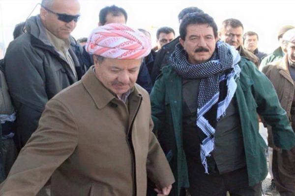 كوسرت رسول مع مسعود بارزاني