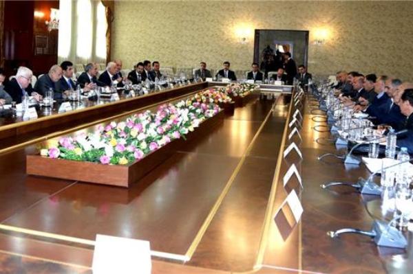 حكومة اقليم كردستان مجتمعة برئاسة رئيسها نجيرفان بارزاني