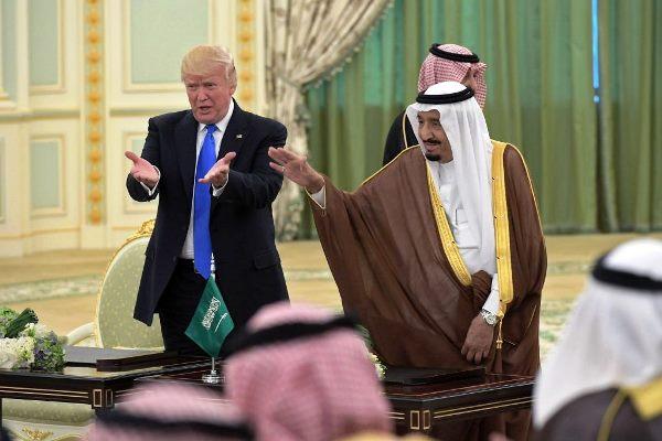 الملك سلمان والرئيس ترمب - أرشيفية