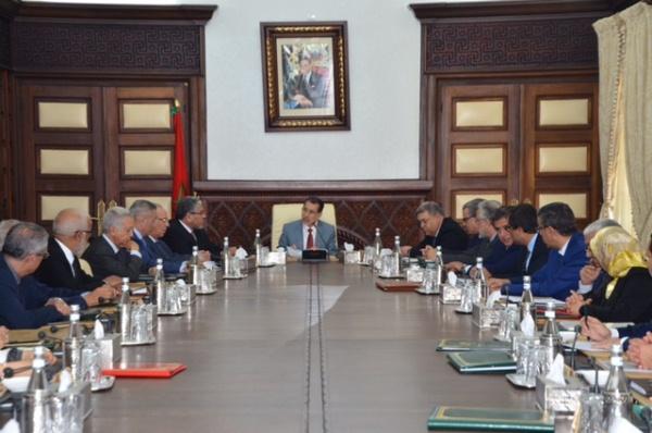 سعد الدين العثماني لدى ترؤسه المجلس الحكومي اليوم الخميس