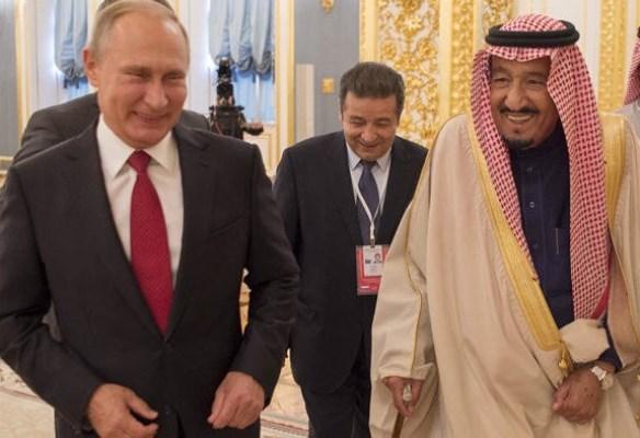 جانب من لقاءات الملك سلمان وبوتين في موسكو