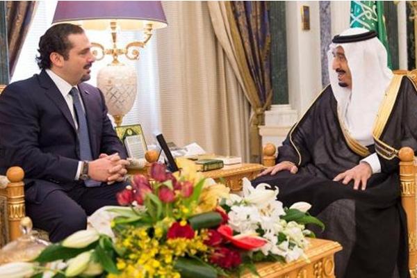 الملك سلمان يستقبل الحريري
