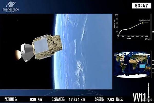 إطلاق القمر الصناعي المغربي