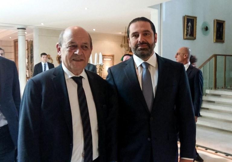 سعد الحريري مع وزير خارجية فرنسا في الرياض