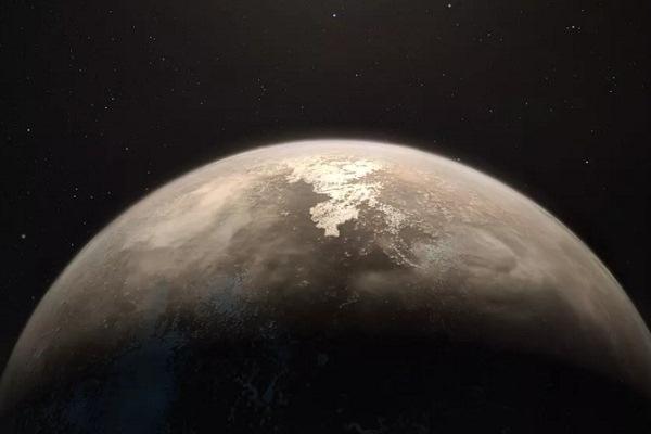 رسم تعبيري لكوكب روس 128 بي
