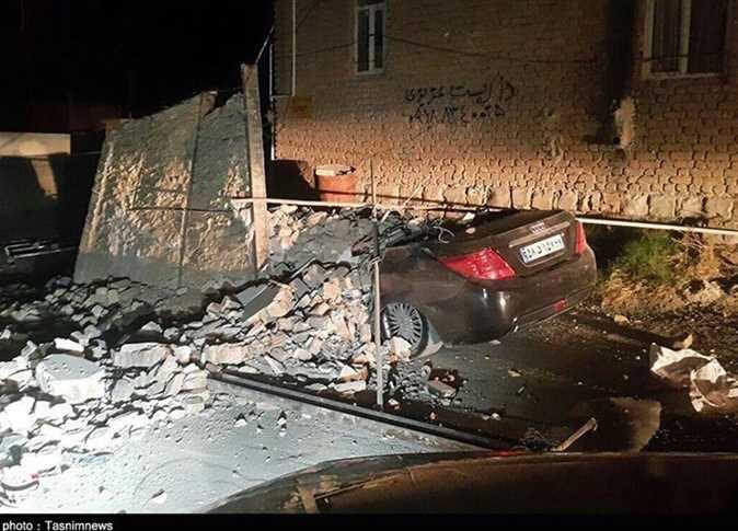 صورة من وكالة تسنيم الايرانية تبين دمارا خلفه الزلزال