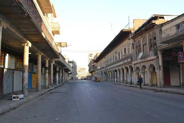 شوارع العاصمة العراقية مقفرة