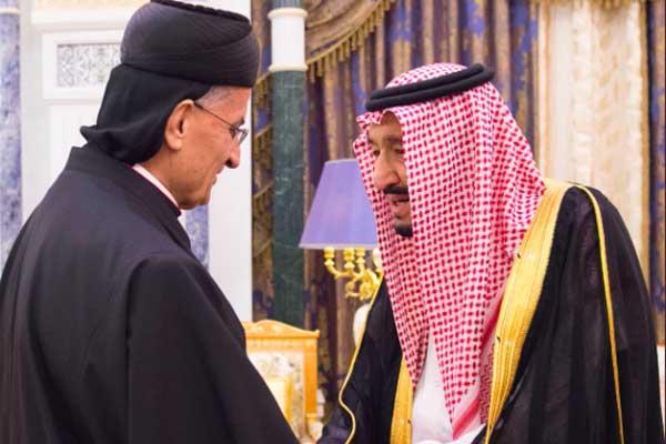 الملك سلمان يستقبل البطريرك اللبناني