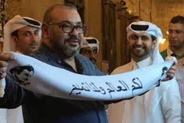 الصورة المركبة للعاهل المغربي في قطر