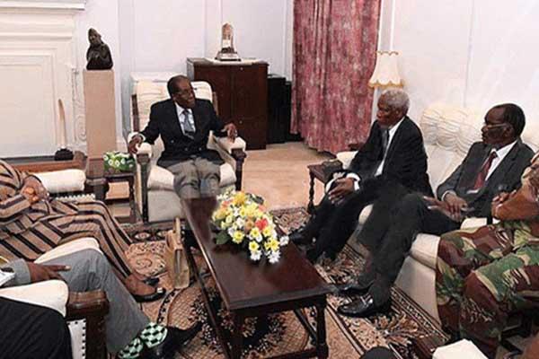 موغابي يتحدث للجنرالات والوسطاء